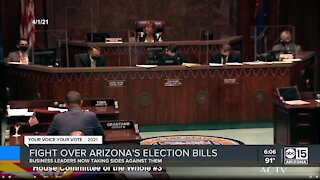 Arizona business leaders taking sides over election bills