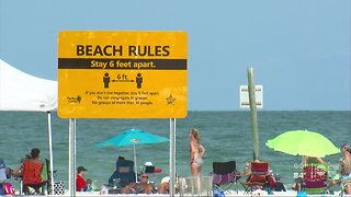 Floridians flock to Pinellas County beaches on the first weekend since reopening