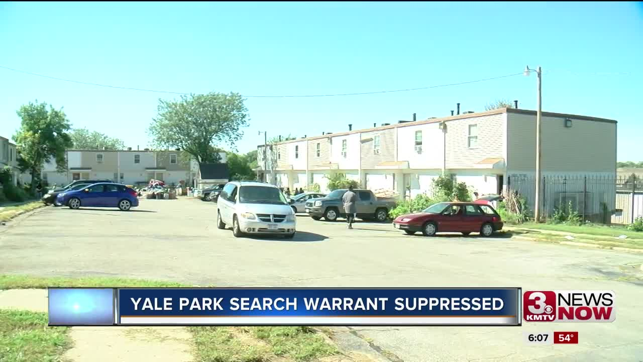 Yale Park search warrant suppressed