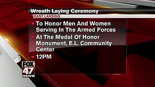 Wreath laying ceremony happening Friday in East Lansing in honor of Memorial Day