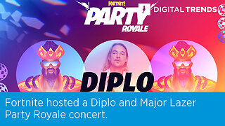 Fortnite hosted a Diplo and Major Lazer Party Royale concert.