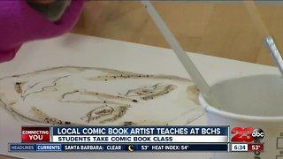 Local comic book artist teaches classes at BCHS