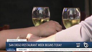 San Diego restaurant week begins Sunday