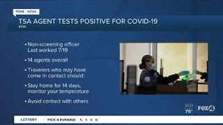 Fourteenth TSA worker to test positive COVID-19