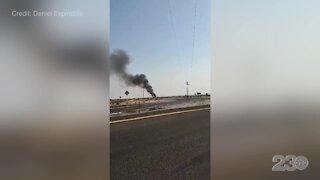 Viewer video of jet crash