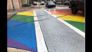 Pride crosswalk vandalized in Delray Beach