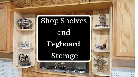 Shop Shelves and Pegboard Storage