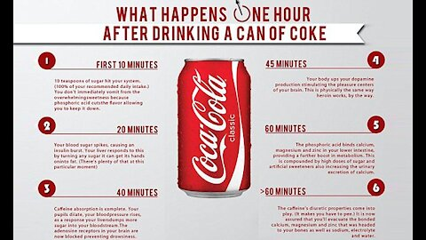 What Happens One Hour After Drinking a Can of Coke?