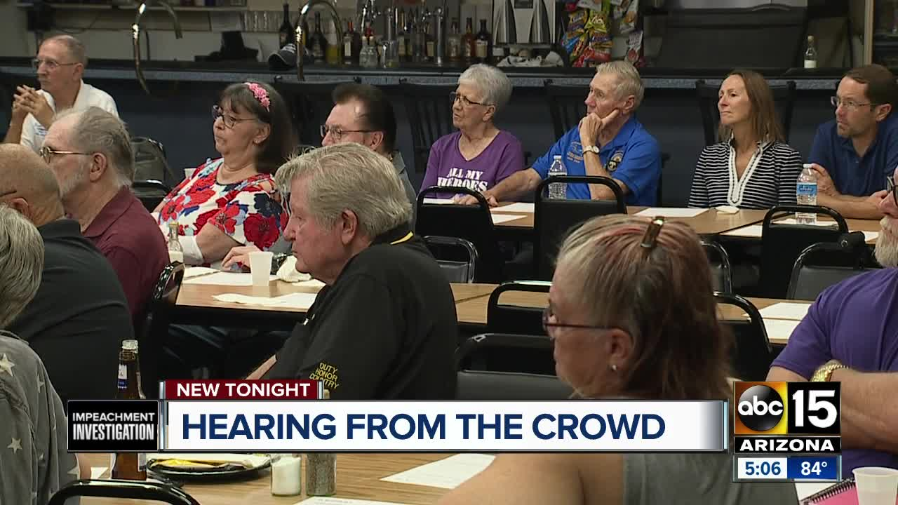 Hearing from Valley residents on the impeachment investigation