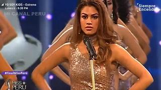A mensagem da Miss Peru contra o feminicídio
