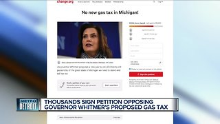 Thousands sign petition opposing Governor Whitmer's proposed gas tax