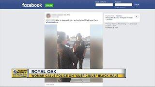 "Woman calls police on ""suspicious"" Black male in Royal Oak"