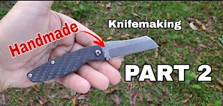 The Making of the Dactyl Small Pocket Knife - Part 2 of 2 #knifemaking