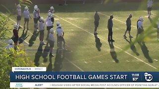 San Diego County high school football games resume