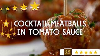 Cocktail Meatballs In Tomato Sauce - A Fun Easy Recipe