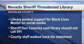Nevada sheriff threatened a Douglas County library