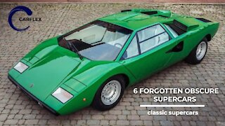 6 Forgotten and Classic Supercars