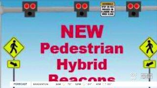 Pedestrian hybrid beacons designed to save lives along Busch Boulevard