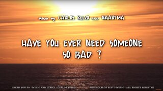 Carlos Ruivo - I Need You So
