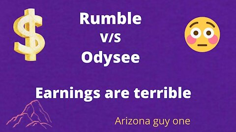 Big Difference...Rumble v/s Odysee Come take a look