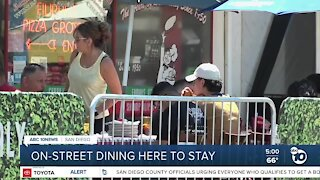 On-street dining here to stay in San Diego