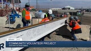 Community volunteer project at CSU spur campus in Denver