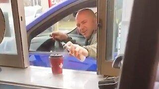 Canadian Man Sanitizes His Tim Hortons Coffee