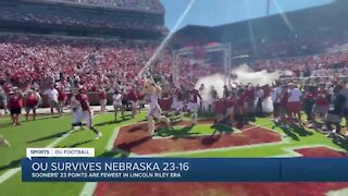 OU survives Nebraska 23-16