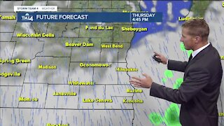 Cloudy, windy, and chances of spotty showers