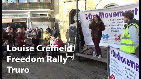 Louise Creffield - Truro - Freedom Rally - speech