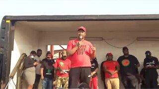 "EFF ""is not in Phoenix for peace"""