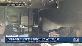 Community comes together after fire at senior center in Glendale