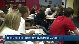 Union School Board Approves Mask Mandate