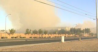 Firefighters battle 2-alarm fire in North Las Vegas