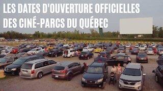 Toutes les dates d'ouverture officielles des ciné-parcs du Québec