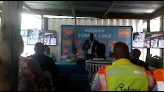 SOUTH AFRICA - Durban - Sod turning at Point Water project (Videos) (e2R)