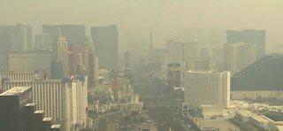 Wildfire smoke blanketing Las Vegas area