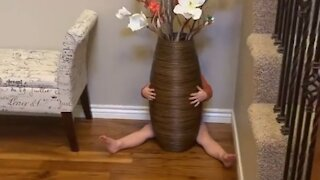 Mom documents what it's like to play hide-and-seek with a toddler