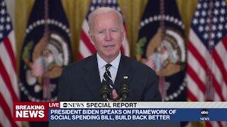 Biden unveils framework for $1.75 trillion spending bill he believes will have full Dem support