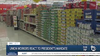 Union workers react to President Biden's vaccine mandate