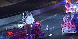 Nevada Highway Patrol updates overturned tanker truck situation on US 95