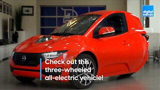 Three-wheeled all-electric EV