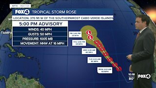 Tracking Tropical Storm Rose