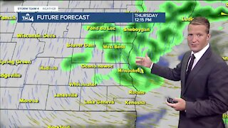 Chance of showers and highs in the 50s