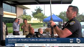 Dozens of people turn in unwanted guns
