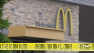 A suspect arrested after shooting at police and retreating to a nearby McDonald's
