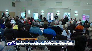 County and city residents come together for town hall meeting