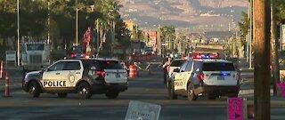 Vegas PD: Pedestrian taken to hospital after struck by vehicle