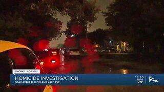 Homicide investigation in north Tulsa