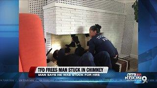 Tucson crews rescue, arrest man stuck in chimney